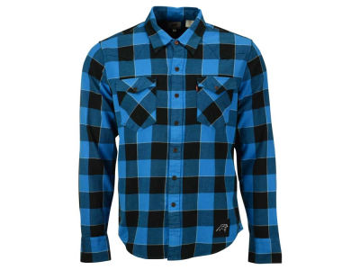 Carolina Panthers NFL Plaid Barstow Western Top