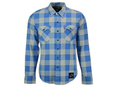 Detroit Lions NFL Plaid Barstow Western Top