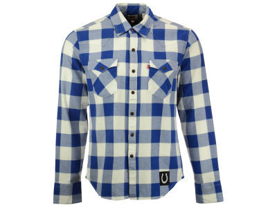 Indianapolis Colts NFL Plaid Barstow Western Top