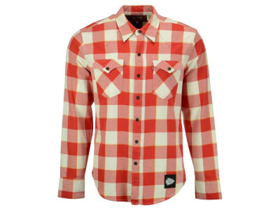 Kansas City Chiefs NFL Plaid Barstow Western Top