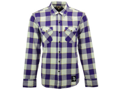 Minnesota Vikings NFL Plaid Barstow Western Top