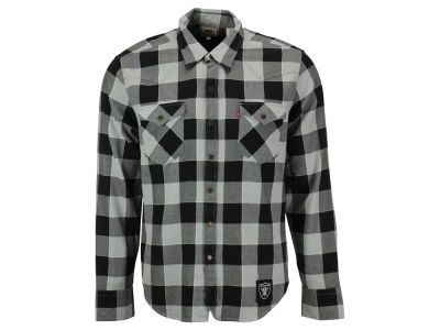 Oakland Raiders NFL Plaid Barstow Western Top