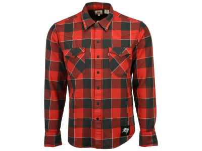Tampa Bay Buccaneers NFL Plaid Barstow Western Top