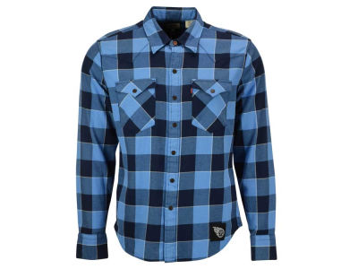 Tennessee Titans NFL Plaid Barstow Western Top