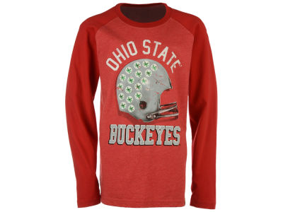 Ohio State Buckeyes NCAA Kids Football Melange Raglan Shirt