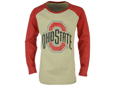 Ohio State Buckeyes NCAA Toddler Girls Sparkle Slub Raglan Long Sleeve T-Shirt