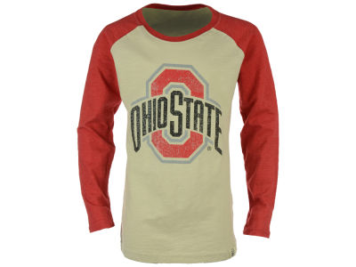 Ohio State Buckeyes NCAA Youth Girls Sparkle Slub Raglan Long Sleeve T-Shirt