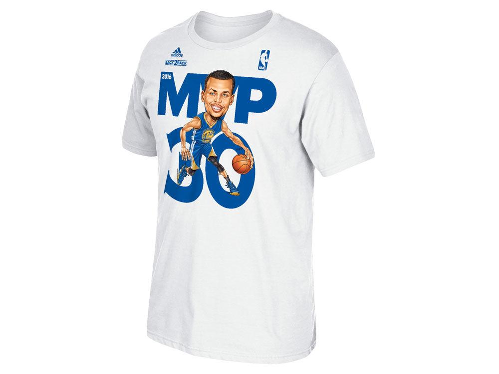 d659409c72 Golden State Warriors Stephen Curry adidas NBA Men s Caricature MVP T-Shirt