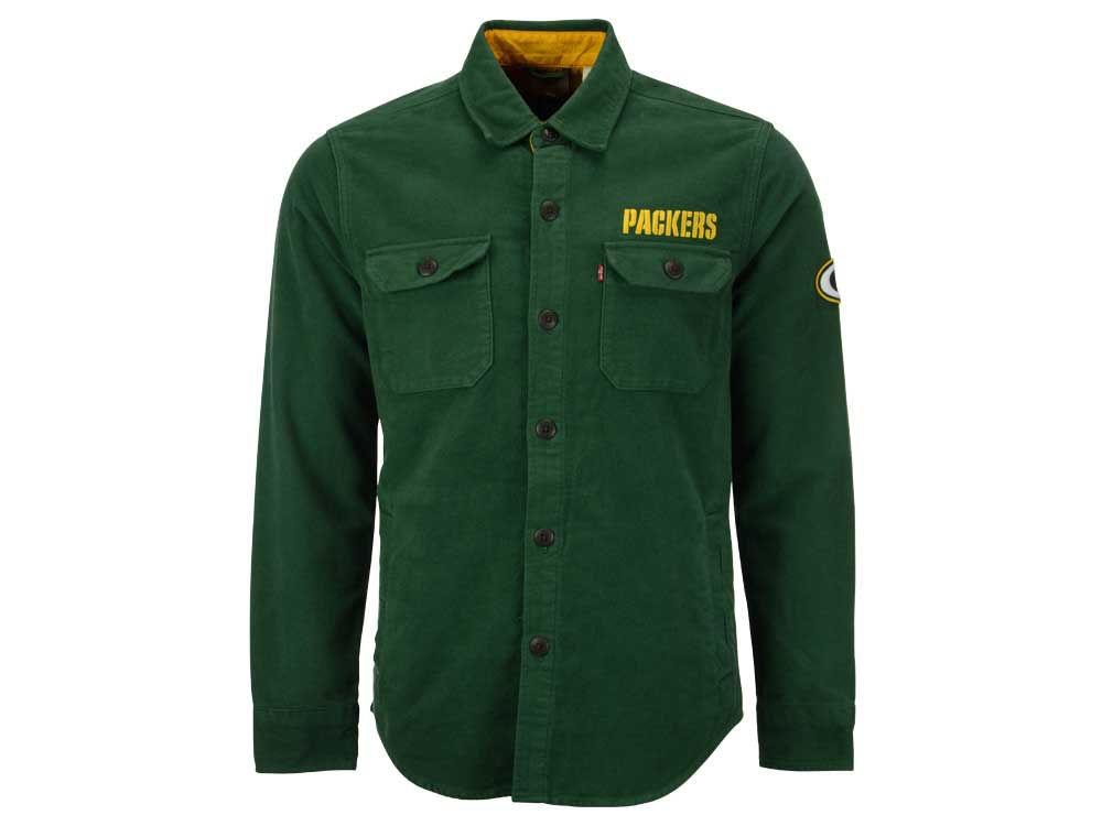 Green Bay Packers NFL Men's Overshirt Button Down Shirt | lids.com
