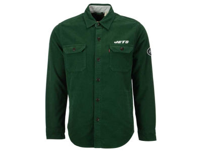 New York Jets NFL Men's Overshirt Button Down Shirt