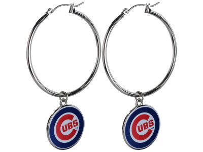 Chicago Cubs MLB Hoopla Earrings