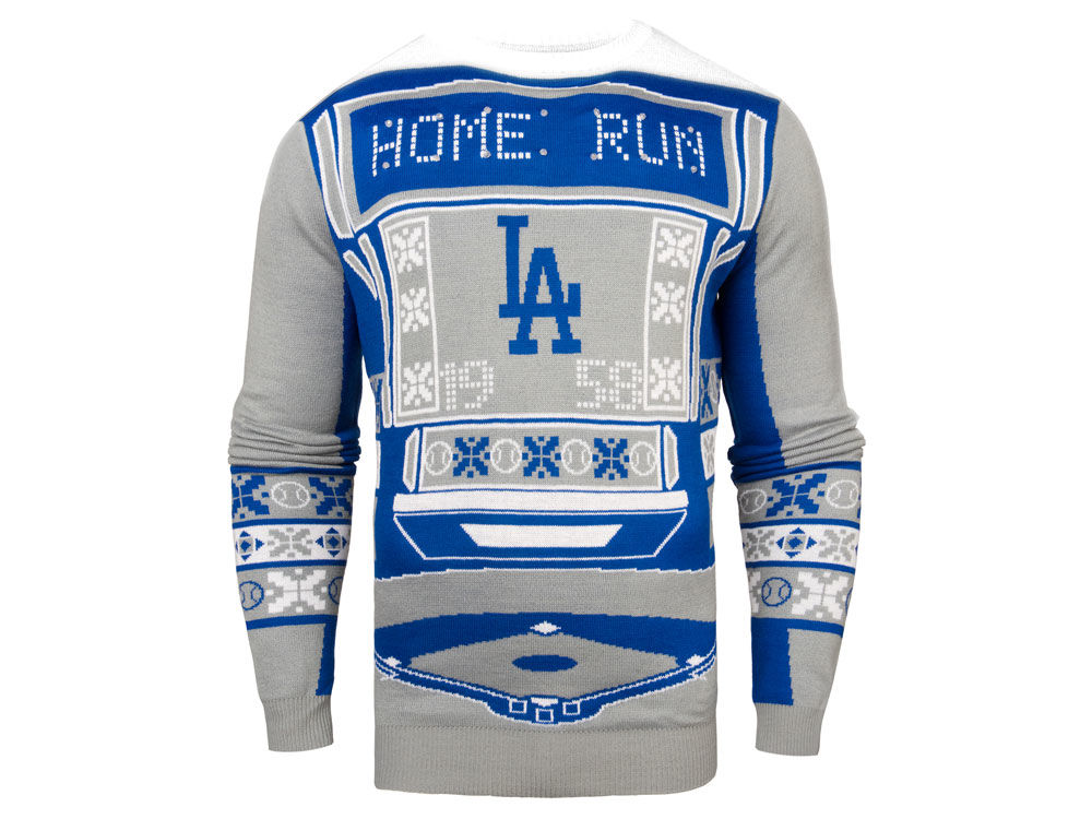 Los Angeles Dodgers Mlb Mens Light Up Ugly Sweater Lidscom
