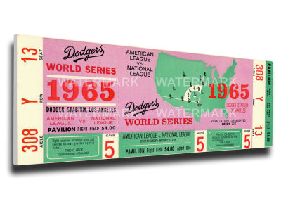 Los Angeles Dodgers World Series Canvas Mega Ticket