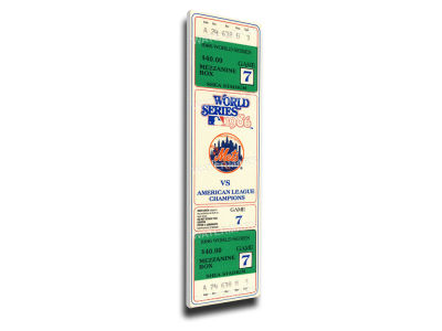 New York Mets World Series Canvas Mega Ticket
