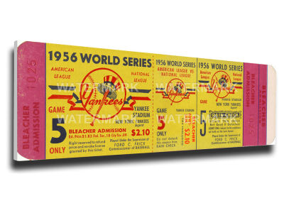 New York Yankees World Series Canvas Mega Ticket