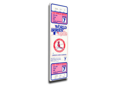 St. Louis Cardinals World Series Canvas Mega Ticket