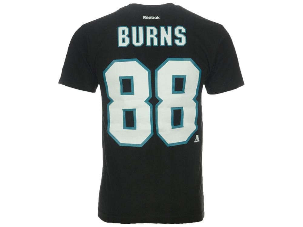 8414ec98d5a San Jose Sharks Brent Burns Reebok NHL CN Player T-Shirt