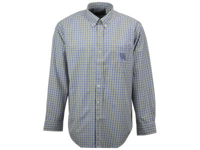 Kentucky Wildcats NCAA Men's Gingham Check Button Down Shirt