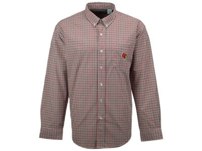 Louisville Cardinals NCAA Men's Gingham Check Button Down Shirt