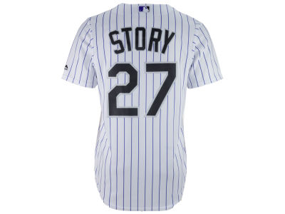 Colorado Rockies Trevor Story Majestic MLB Men's Player Replica CB Jersey