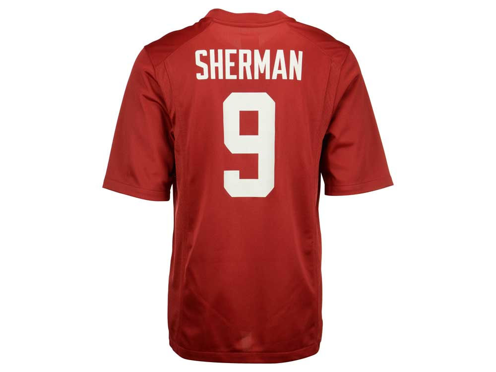 37d77fcd1 Stanford Cardinal Richard Sherman Nike NCAA Men s Player Game Jersey ...