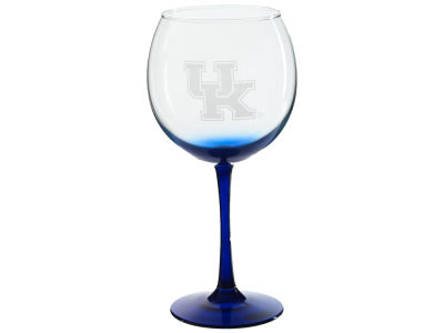 Kentucky Wildcats 18oz Colored Stem Balloon Wine Glass
