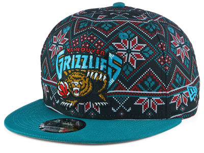 Vancouver Grizzlies New Era NBA Fresh Prints Sweater 9FIFTY Snapback Cap