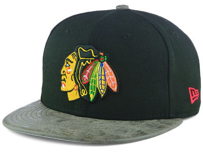 Chicago Blackhawks New Era NHL Rustic Vize 9FIFTY Snapback Cap