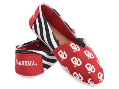 Oklahoma Sooners Forever Collectibles Canvas Stripe Shoe