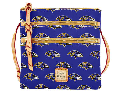Baltimore Ravens Dooney & Bourke Triple Zip Crossbody Bag