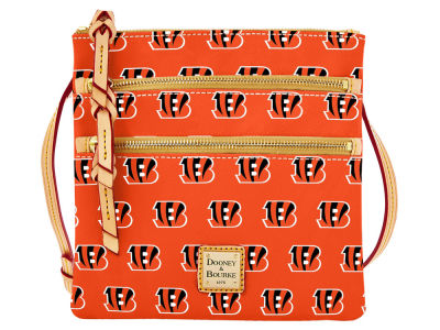 Cincinnati Bengals Dooney & Bourke Triple Zip Crossbody Bag