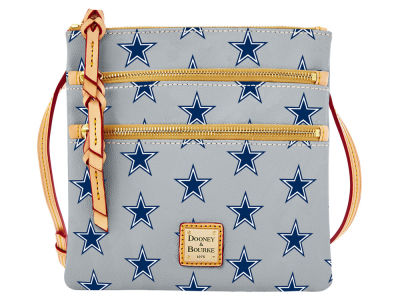 Dallas Cowboys Dooney & Bourke Triple Zip Crossbody Bag