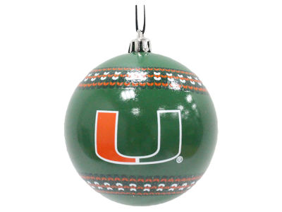 "Miami Hurricanes 3"" Ugly Sweater Ornament"
