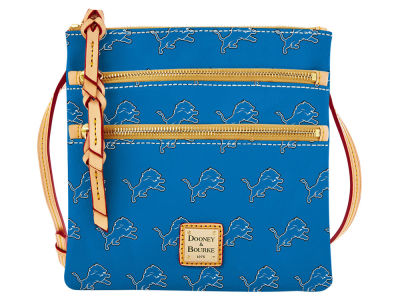 Detroit Lions Dooney & Bourke Triple Zip Crossbody Bag