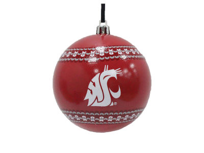 "Washington State Cougars 3"" Ugly Sweater Ornament"