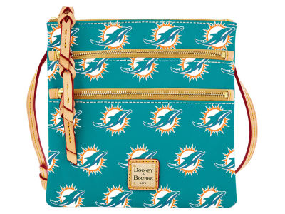 Miami Dolphins Dooney & Bourke Triple Zip Crossbody Bag