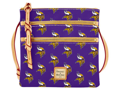 Minnesota Vikings Dooney & Bourke Triple Zip Crossbody Bag