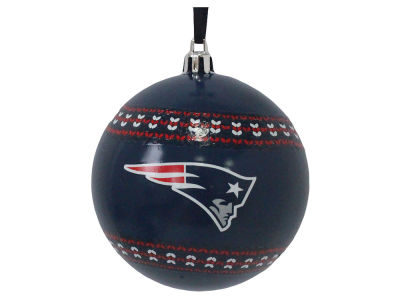 "New England Patriots 3"" Ugly Sweater Ornament"