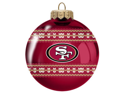 "San Francisco 49ers 3"" Ugly Sweater Ornament"