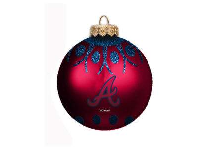 "Atlanta Braves 4"" Glitter Ornament"