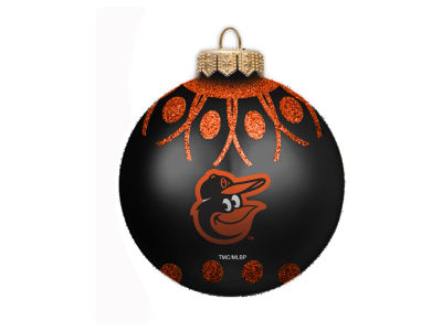 "Baltimore Orioles 4"" Glitter Ornament"