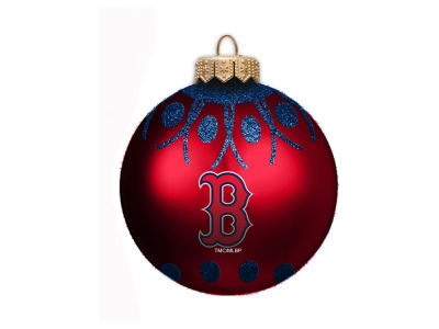 "Boston Red Sox 4"" Glitter Ornament"