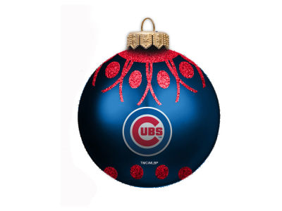 "Chicago Cubs 4"" Glitter Ornament"