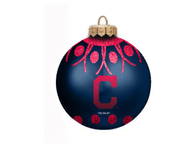 "Cleveland Indians 4"" Glitter Ornament"