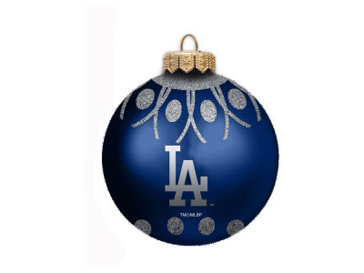 "Los Angeles Dodgers 4"" Glitter Ornament"