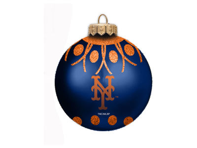 "New York Mets 4"" Glitter Ornament"