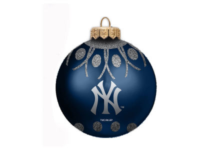 "New York Yankees 4"" Glitter Ornament"