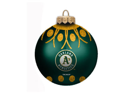 "Oakland Athletics 4"" Glitter Ornament"
