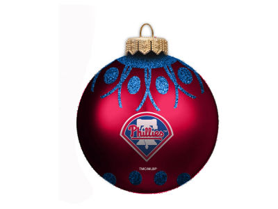"Philadelphia Phillies Memory Company 4"" Glitter Ornament"
