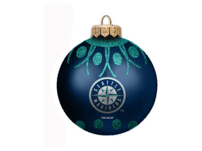 "Seattle Mariners 4"" Glitter Ornament"
